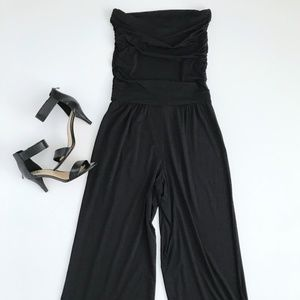 Carmen Marc Valvo Black Sleeveless Jumpsuit SMALL